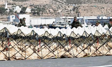 Une opération de décontamination au port militaire d'Agadir pour évaluer la réactivité de l'Unité de secours et de sauvetage des FAR