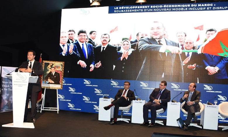 Placée sous le thème «Penser le nouveau modèle de développement du Maroc : la nécessité d'une approche  intégrée et participative», la conférence de mercredi intervient à l'occasion du lancement des nouvelles activités de l'Institut Amadeus.                     Ph. Kartouch