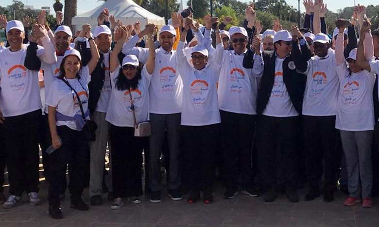 Une marche symbolique à Rabat pour sensibiliser à l'importance de l'exercice physique