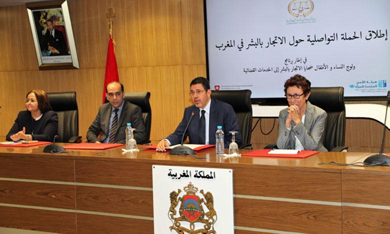 Ministère public : présentation de la campagne de sensibilisation à la lutte contre la traite des êtres humains.