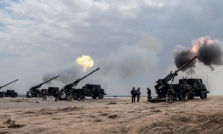 Mission terminée pour l'artillerie française