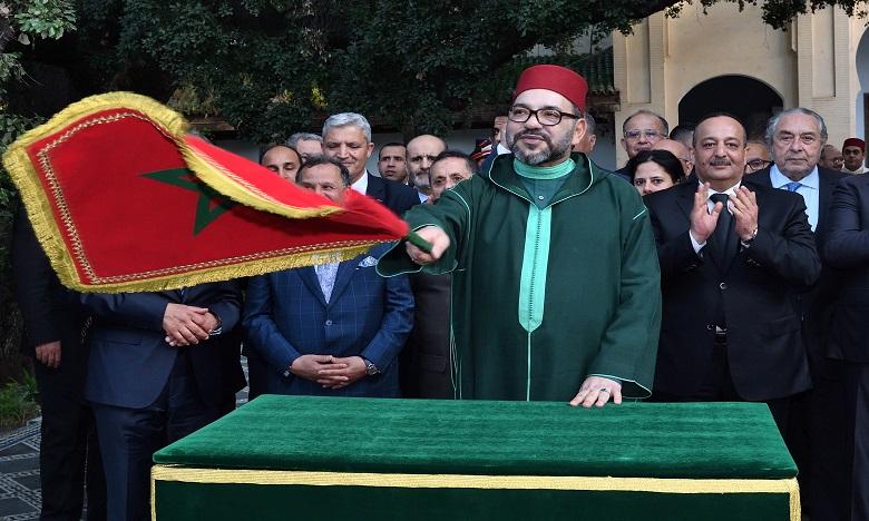 Sa Majesté le Roi Mohammed VI visite plusieurs projets réalisés dans le cadre des programmes de réhabilitation et de mise en valeur de l'ancienne médina de Fès