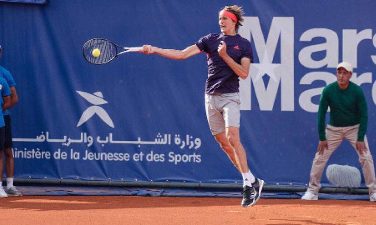 Alexander Zverev a enchanté le public au Royal Tennis Club de Marrakech, avec 13 aces et 3 balles de break sauvées.