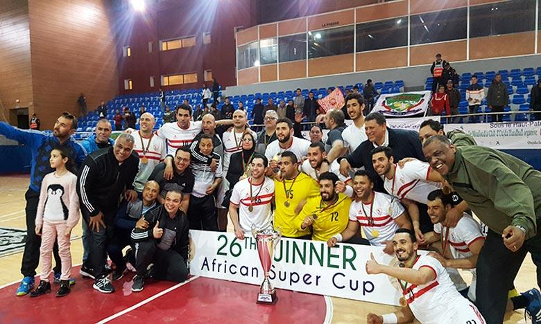 A la faveur de cette victoire, le club Blanc a assuré sa qualification pour le Mondial des clubs «Super Globe», qui aura lieu en août prochain en Arabie Saoudite. Ph : MAP