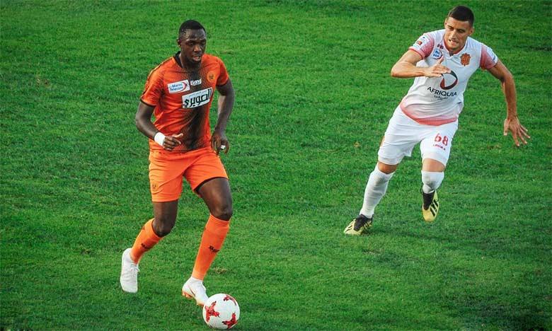 La RS Berkane dans une précédente rencontre face au Hassania en Coupe de la CAF.