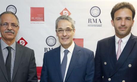 Abdellatif Filali, PDG de Socomadis, Mehdi Tazi, PDG de Beassur et Zouheir Bensaid, CEO de Royale Marocaine d'Assurance