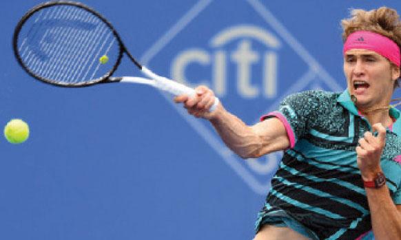Le numéro 3 mondial Alexander Zverev, tête d'affiche de la 35e édition