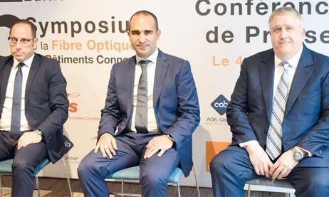 «Nous avons un vrai manque en techniciens spécialisés. Ce sont des métiers nouveaux qui ont besoin de formations», a déclaré le directeur business unit fixe chez Orange Maroc, Fayssal Soulaymani (au centre). Ph. Saouri