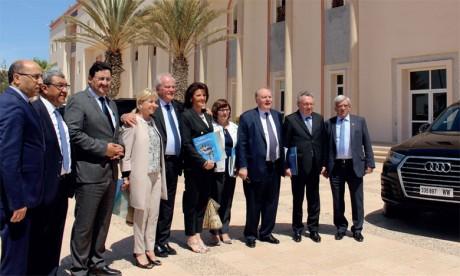 Une délégation du groupe d'amitié parlementaire France- Maroc s'informe des potentialités économiques de la région