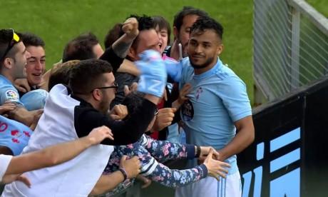 Le milieu offensif marocain  Boufal a donné la victoire au Celta Vigo face à Girona grâce à une merveille de frappe enroulée du droit ! Ph : DR