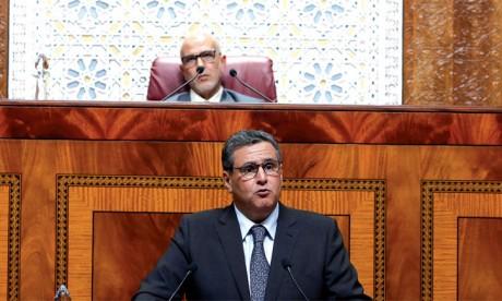 Aziz Akhannouch répondant à une question orale à la Chambre des représentants