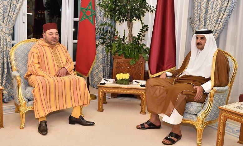 Message de S.M. le Roi à l'Emir de l'Etat du Qatar