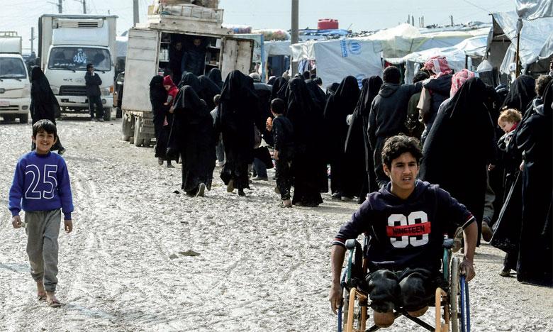 Al-Hol accueille, aujourd'hui, 70.000 personnes dans des conditions particulièrement difficiles. Ph. AFP