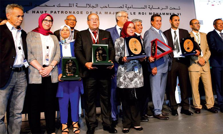 Cérémonie de remise des trophées du 11e Grand Prix Hassan II pour l'Invention et la recherche dans le domaine agricole.