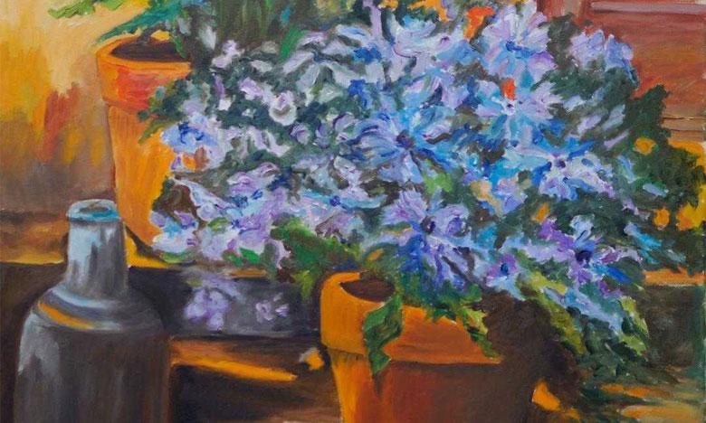 Rajae Smili exprime sa «Passion» pour les paysages et les sujets floraux