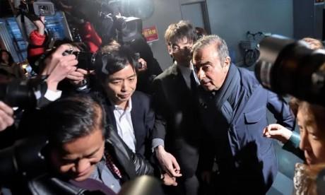 Inculpé pour la quatrième fois par la justice japonaise, placé en détention, depuis le début du mois d'avril. le tribunal de Tokyo a approuvé la libération sous caution de Carlos Ghosn, Le parquet peut encore faire appel. Ph :  AFP