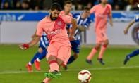 En déplacement au Pays-Basque, le club catalan a emporté la rencontre sur le score de 2-0 face à Alavés grâce à des réalisations d'Aleñá et de Luis Suarez. Ph : AFP