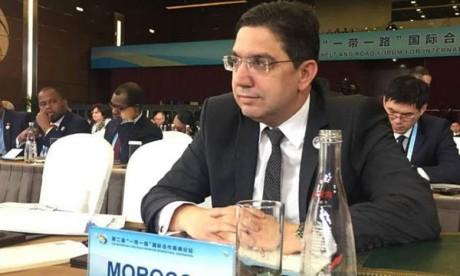 Nasser Bourita prend part à la réunion de haut niveau du deuxième Forum de l'initiative «la Ceinture et la Route»