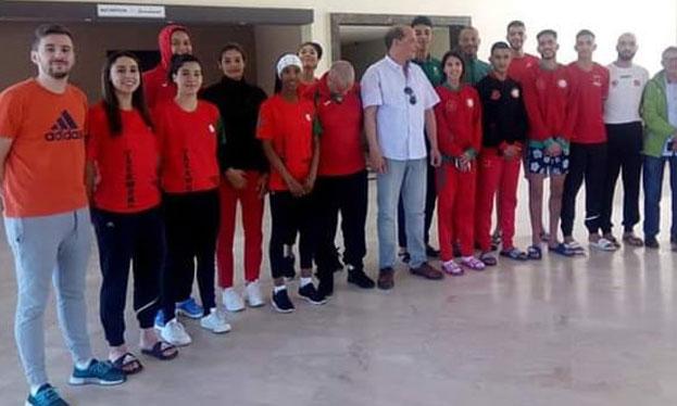 Onze taekwondoïstes  marocains à Manchester