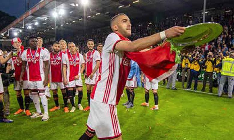 L'Ajax de Ziyech, Mazraoui et Labyad remporte son 1er doublé depuis 17 ans