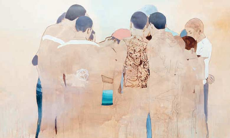 La démarche artistique de Nabil El Makhloufi se caractérise par une figuration qui imprime un univers très particulier à ses toiles.
