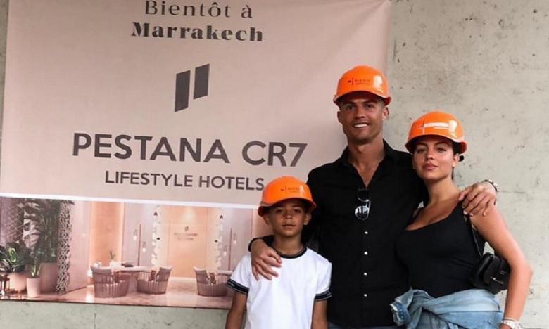 Cristiano Ronaldo visite  le chantier de M Avenue à Marrakech