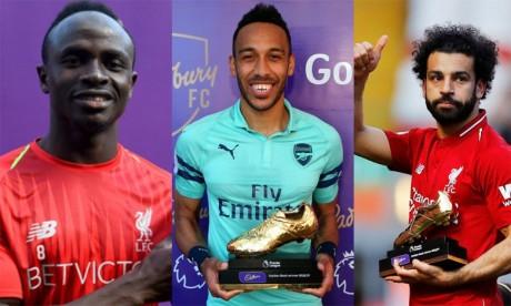 Salah, Mane et Aubameyang dominent  le classement des buteurs en Angleterre