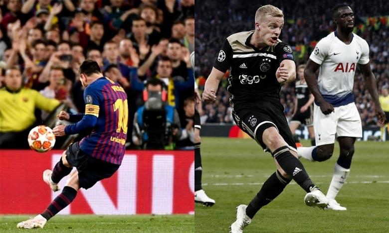 Le FC Barcelone a rejoint l'Ajax Amsterdam qui avait remporté son match de demi finale retour face à Tottenham. Ph : AFP