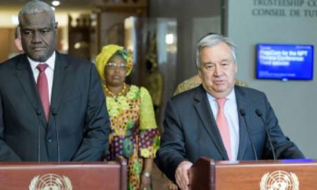Le secrétaire général de l'ONU plaide pour  une coopération plus efficace avec l'UA
