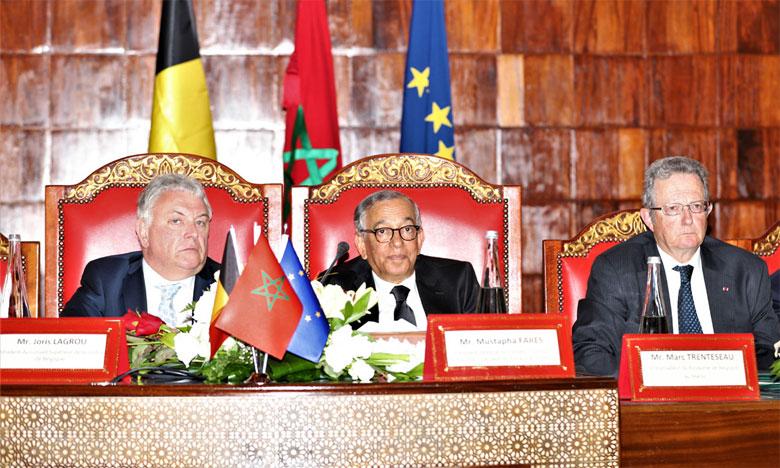 Cérémonie de lancement du jumelage entre le Conseil supérieur du pouvoir judiciaire du Maroc et le service de justice public fédéral.