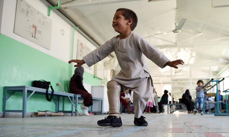 Le jeune Ahmed au centre médical de Kaboul en Afghanistan. Ph. AFP