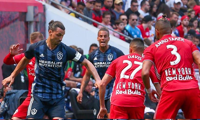 Ibrahimovic avait écopé d'une amende pour simulation après s'être laissé tomber pour tenter d'obtenir un coup franc lors de la défaite du Galaxy face à Columbus. Ph : DR
