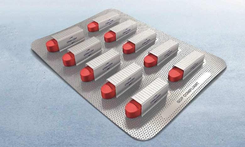 CMA CGM s'attaque au marché pharmaceutique