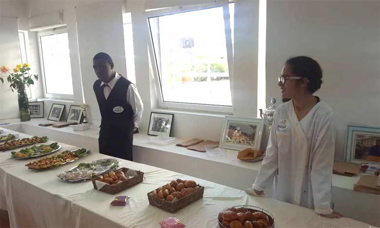 Les jeunes du Centre socioprofessionnel Hadaf exposent leurs créations