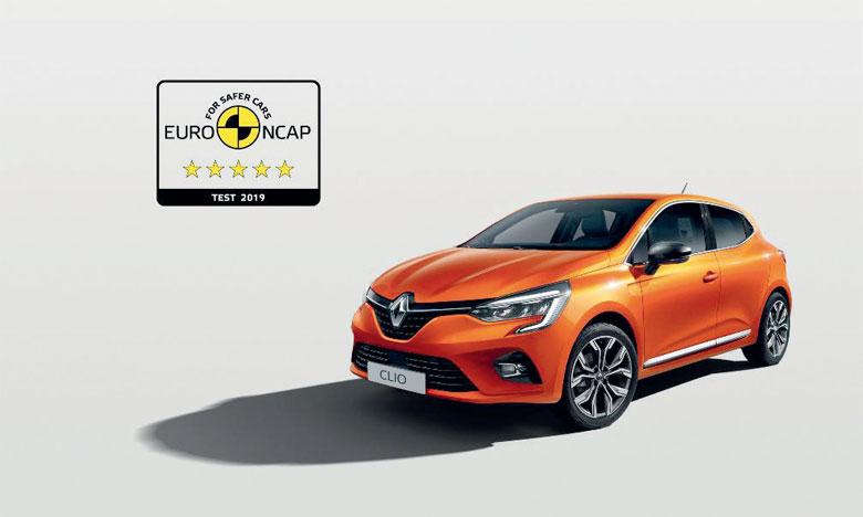 5 étoiles Euro NCAP pour Nouvelle  Renault Clio