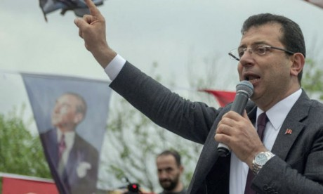 La victoire d'Ekrem Imamoglu aux locales  d'Ankara a été annulée après un recours déposé par le Président Erdogan.              Ph. AFP