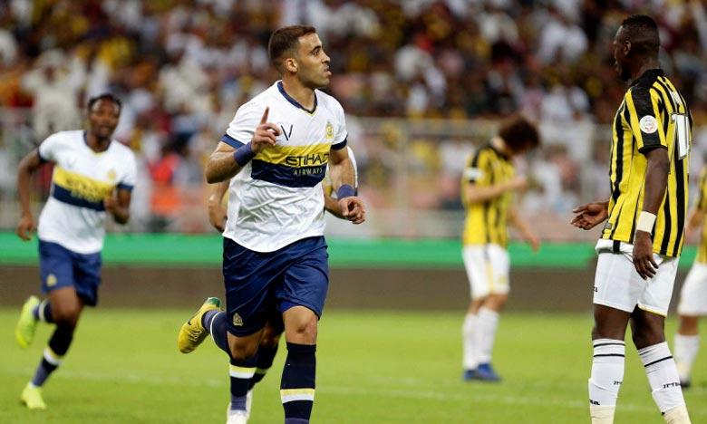 L'international marocain Abderrazak Hamed-Allah a inscrit les deux buts de son équipe à la 26e et 57e minute du jeu. Ph : DR