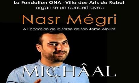 Nasr Mégri donne RDV à son public le mardi 14 mai à 22h à la Villa des arts de Rabat