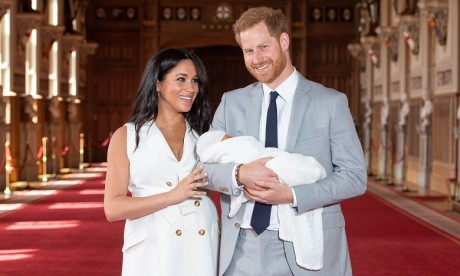 Le couple n'a pas annoncé le prénom de leur enfant né lundi. Ph. AFP