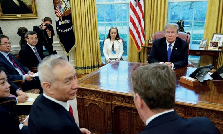 Les négociations étaient incertaines après la décision de M. Trump de relever les droits de douane sur des produits chinois  représentant 200 milliards de dollars.   Ph. AFP