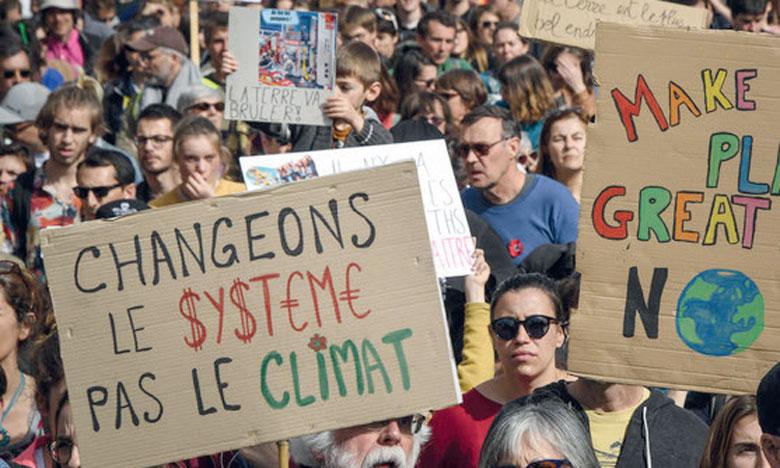 Des manifestations ont drainé des milliers de jeunes à Genève, Lausanne, Rome, Milan, Florence, Palerme, Barcelone et Madrid. Ph. AFP