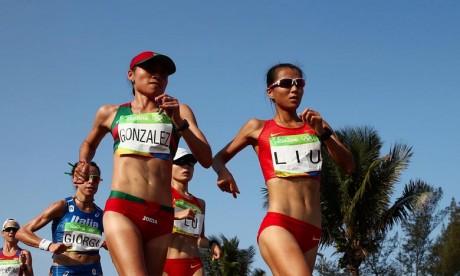 Le Mexicaine Maria Guadalupe Gonzalez, vice-championne olympique et vice-championne du monde du 20 km marche, a été suspendue quatre ans pour un contrôle positif Ph :  AFP