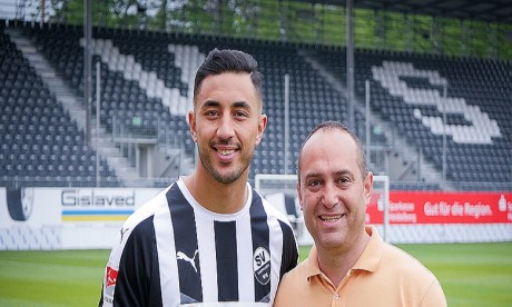 Aziz Bouhaddouz de retour au SV Sandhausen