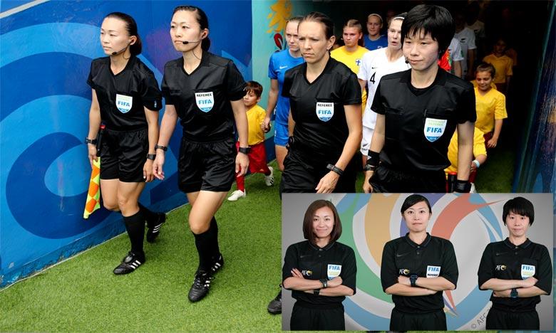 Au stade Thuwunna à Rangoun, l'arbitre centrale japonaise Yoshimi Yamashita sera assistée par ses compatriotes Makoto Bozono et Naomi Teshirogi . Ph : DR