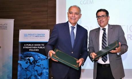 La CGEM et le Policy Center for the New South s'engagent à renforcer leur coopération