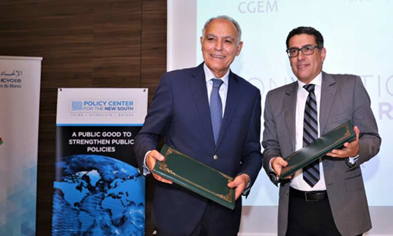 La CGEM et le Policy Center for the New South s'engagent à renforcer leur coopération