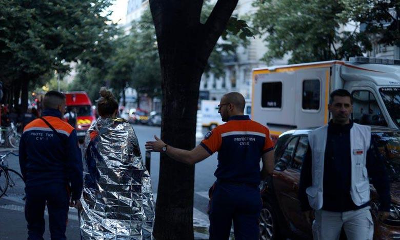 Le sinistre s'est déclenché dans un bâtiment de six étages abritant un restaurant, un hammam et des habitations. Ph : DR