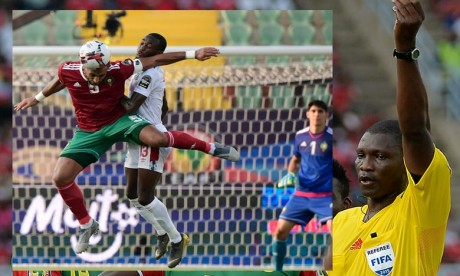 L'arbitre camerounais, Alioum Nean, avait dirigé le match d'ouverture de la compétition entre l'Egypte et le Zimbabwe. Ph : AFP