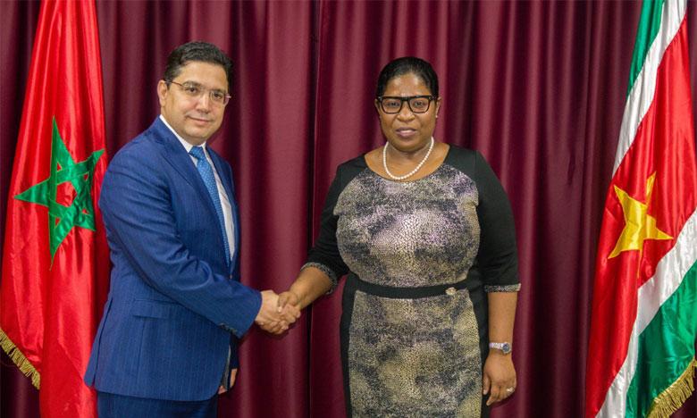 Le Suriname salue le rôle de S.M. le Roi Mohammed VI en tant que «leader africain»