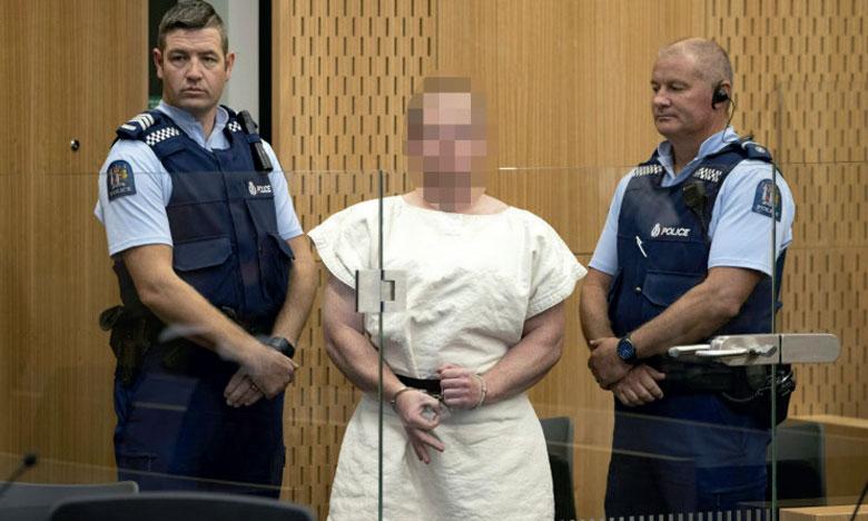 L'extrémiste australien Brenton Tarrant est inculpé pour le meurtre de 51 fidèles dans deux mosquées en Nouvelle-Zélande.            Ph. AFP